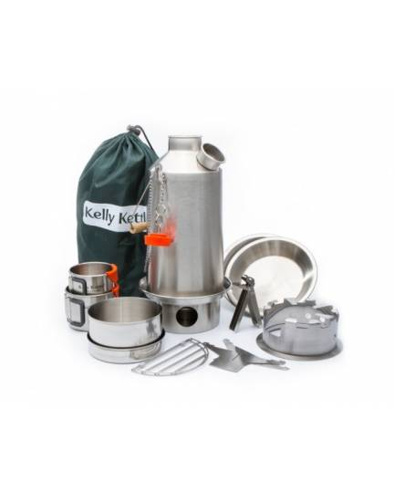 Kelly Kettle 1,6Ltr. Base Camp Set Edelstahl