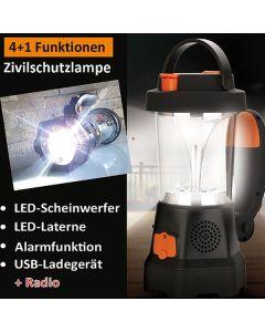4Everlight Zivilschutzlampe mit Notfallradio