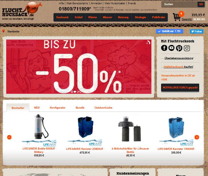 fluchtrucksack homepage alt